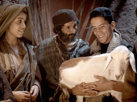 When the shepherds had seen baby Jesus they went around telling others what they had been told by the angels. Everyone who heard the news was amazed. – Slide 14