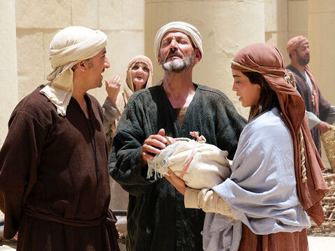 'He is the Light that will shine upon the nations, and He will be the glory of your people Israel!' Joseph and Mary stood there, marvelling at what was being said about Jesus. – Slide 7