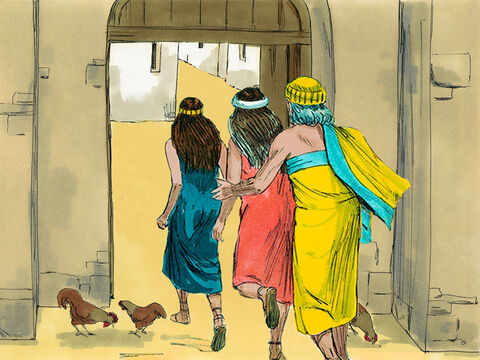 The Lord spared the lives of Lot and his two daughters who sheltered in the town of Zoar. – Slide 15