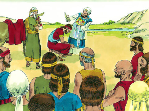 When Solomon arrived at Gilhon, Zadok the priest took a horn of scared oil anointed Solomon as King. Then they sounded the trumpet and everyone shouted, 'Long live King Solomon!' – Slide 8