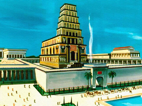 Solomon built a magnificent temple for the praise and worship of God.  He also built courts and palaces in Jerusalem. His fame spread far and wide. – Slide 21