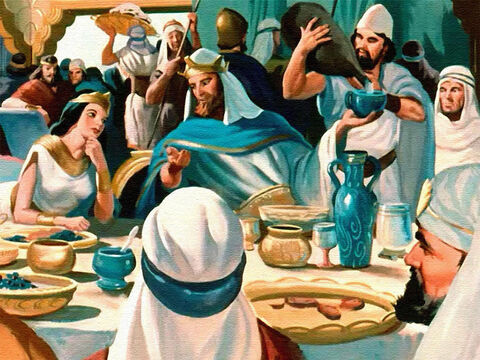 As the Queen of Sheba sat at Solomon's table and listened to him, she realised that his people loved and served him because he was a wise and good king. – Slide 25