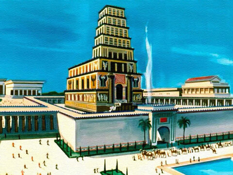 Solomon knew that the magnificent temple, which had taken thousands of men seven years to build ... and his palace … – Slide 28
