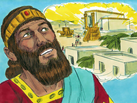 When Solomon had built the temple and his own palace God spoke to him. 'I have consecrated this temple, by putting my Name there forever. If you obey me you will never fail to have a successor on the throne of Israel. – Slide 15