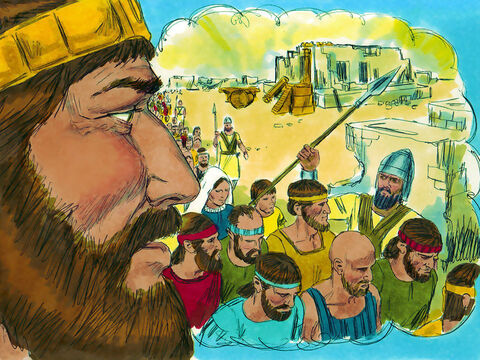 'But if you, or your descendants, turn away from me and worship other gods I will cut them off from the Promised Land and this temple will become a heap of rubble.' – Slide 16