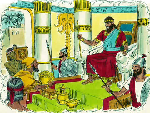 'And as you did not ask for riches and honour I will give these to you also - more than any other king in your lifetime. And if you obey me you will have a long life.' – Slide 6