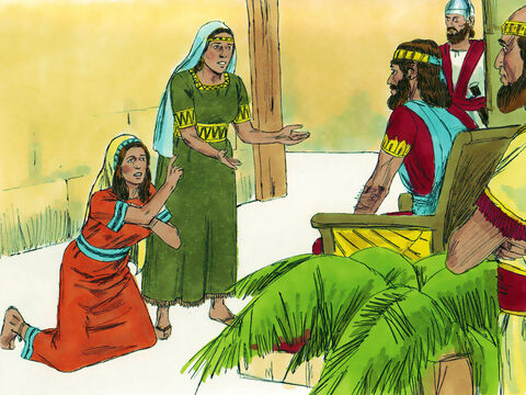 Some time later two women (prostitutes) came to him to make a ruling. One of the women explained that they both lived in the same house. She had given birth to a baby and three days later the other woman had also given birth. They were both alone in the house. – Slide 8