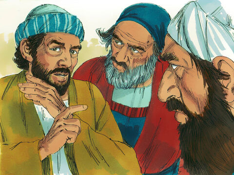 These Jews secretly persuaded other men to falsely claim, 'We have heard Stephen speak blasphemous words against Moses and against God.' – Slide 9