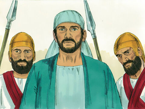Stephen was seized and taken before the leaders of the Sanhedrin. – Slide 10