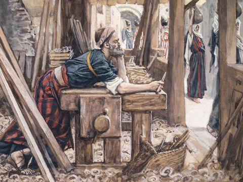 When Joseph found out Mary was pregnant by the Holy Spirit, he did not want to expose her to public disgrace, but wanted to divorce her quietly. <br/>(Matthew 1:18-19). <br/>The Anxiety of Joseph - James Tissot - Brooklyn Museum. – Slide 7