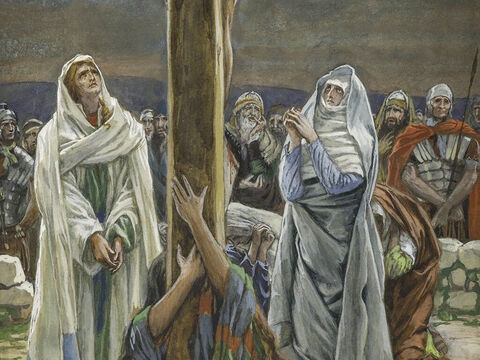 And to John, Jesus said, 'Here is your mother.' From that time on, John took Mary into his home and looked after her. <br/>(John 19:27). <br/>Woman, Behold Thy Son - James Tissot - Brooklyn Museum. – Slide 4