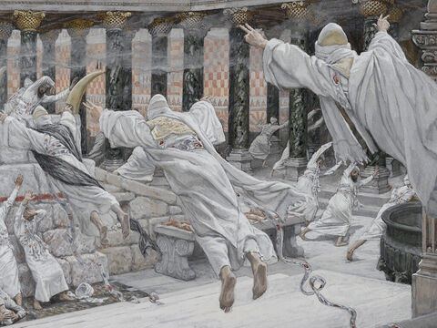 They came out of the tombs after Jesus' resurrection and went into the holy city and appeared to many people. <br/>(Matthew 27:53). <br/>The Dead Appear in the Temple - James Tissot - Brooklyn Museum. – Slide 13