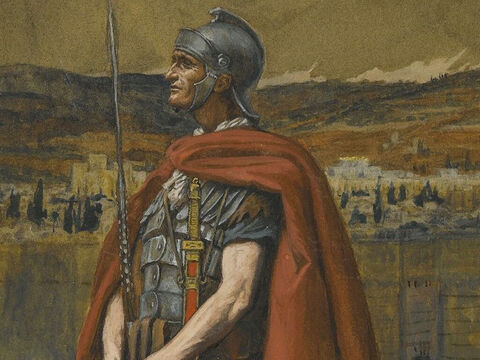 When the Centurion and those with him who were guarding Jesus saw the earthquake and all that had happened they were terrified. <br/>(Matthew 27:54). <br/>The Centurion - James Tissot - Brooklyn Museum. – Slide 14