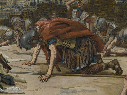 And when the Centurion, who stood there in front of the cross, saw how Jesus had died, he said, 'Surely this man was the Son of God!' <br/>(Mark 15:39). <br/>The Confession of the Centurion - James Tissot - Brooklyn Museum. – Slide 16