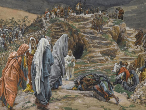 Jesus said, 'Father, forgive them, for they don't know what they are doing.' <br/>(Luke 23:34). <br/>The Women Watch from Afar - James Tissot - Brooklyn Museum. – Slide 14