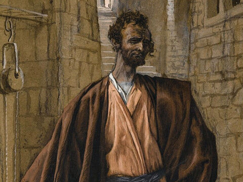 Judas Iscariot decides to betray Jesus and goes to the chief priests. <br/>(Matthew 26:14, Mark 14:10, Luke 22:1-3). <br/>Judas Iscariot - James Tissot - Brooklyn Museum. – Slide 1