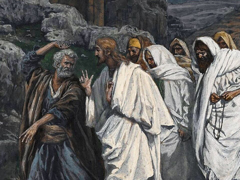 """They sing a hymn, then go out to the Mount of Olives. Jesus tells them, 'This very night you will all fall away on account of me.' <br/>Peter protests, 'Even if the others fall away, I never will.' <br/>Jesus answers, """"This very night, before the rooster crows, you will disown me three times.' <br/>(Matthew 26:30-35, Luke 22:32-38, John 13:31-38). <br/>The walk to the garden of Gethsamane - James Tissot – Brooklyn Museum. – Slide 10"""
