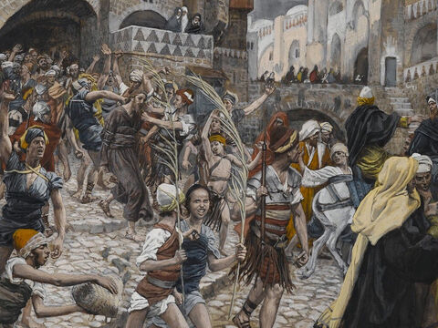 Jesus' trial before Caiaphas ended in the early hours of the morning. Next he was taken to the palace of the Roman governor, Pilate, as only he could grant them the death sentence on Jesus they wanted. <br/>(John 18:28). <br/>Jesus Led from Caiaphas to Pilate - James Tissot - Brooklyn Museum. – Slide 12