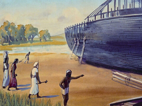 So God asked Noah to build an ark, as He had decided to send a flood … – Slide 7