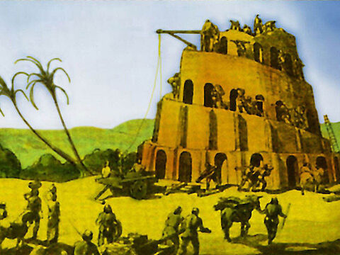 After Noah's flood we are given the account of the Tower at Babel … – Slide 9