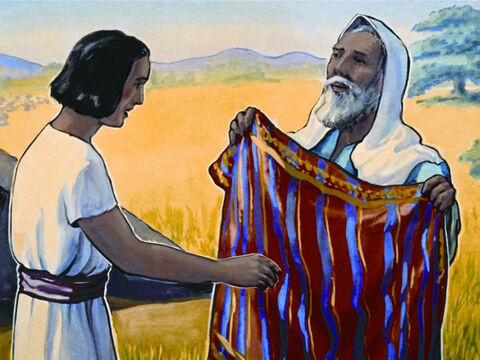 Joseph (famous for his coat of many colours) was one of those 12 sons. – Slide 21