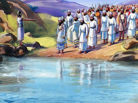 When Moses died, Joshua led the 12 tribes of Israel into Canaan … – Slide 40
