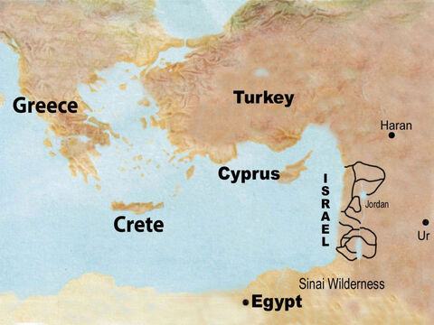 This land is today known as Israel. – Slide 42
