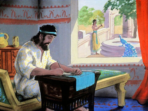 King Solomon also wrote proverbs and songs. He also wrote the book of Ecclesiastes. – Slide 54