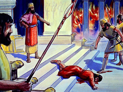 Belshazzar was killed that same night, when Babylon was captured by the Persians … – Slide 38