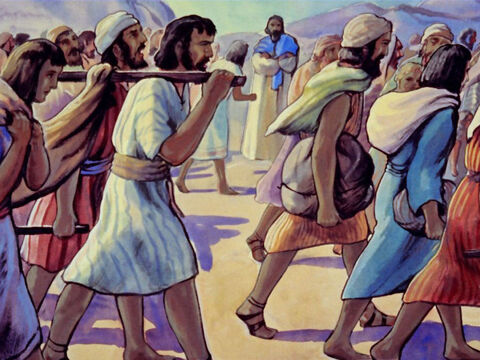 plus a further 7,337 servants but many Israelites remained, unwilling to leave their property. – Slide 43