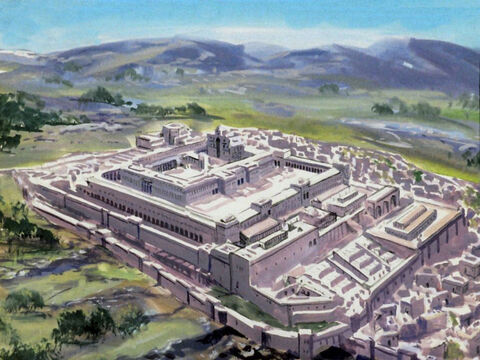 Under Herod, 19 years before Christ, the rebuilding of the third temple began. – Slide 57