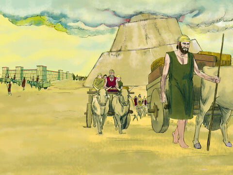 The building work stopped and groups of people scattered to live in different parts of the earth. – Slide 5