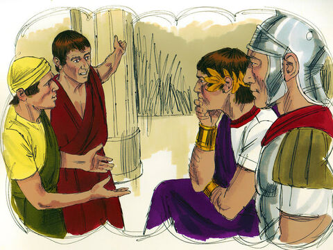 When the other servants saw what had happened, they were outraged and went and told the king what had happened. – Slide 9