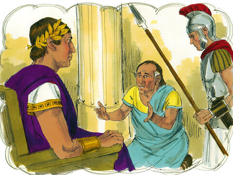 The king summoned the servant. 'You wicked servant,' he said, 'I cancelled all your debt when you begged me to. Shouldn't you have shown the same mercy to your fellow servant?' – Slide 10