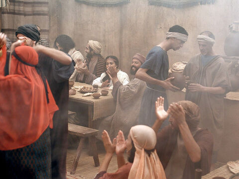 Jesus told the servants to draw some water out and take it to the man in charge of the feast. – Slide 8