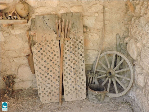 A winnowing fork was used to separate the grain from the straw (Ruth 3:2). – Slide 23
