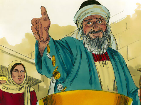 Many rich people made a big show of giving gold coins and large amounts of money. (Jesus on another occasion talked about hypocrites who were 'sounding a trumpet' before they gave - Matthew 6:2) – Slide 2