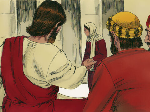 Jesus called his disciples to gather round. 'This poor widow put more in the treasury than all the others,' Jesus told them. – Slide 4