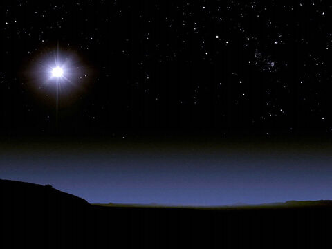 The Wise Men followed the star towards Bethlehem. – Slide 11