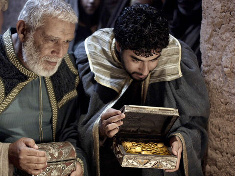 They opened their treasures and gave him gifts of gold ... – Slide 14