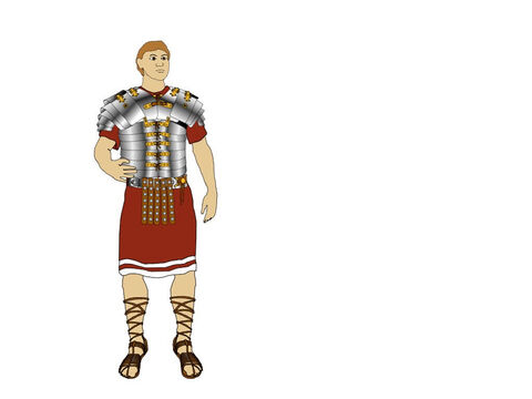 Roman boots were made of several thicknesses of leather, studded with conical hobnails for marching over rough ground and using on the enemy when he had fallen. The metal studs on the soles helped prevent the leather wearing down quickly. – Slide 4