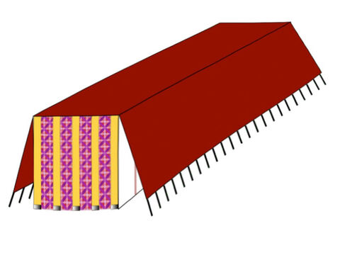 The third covering was of ram skins dyed red. It was the first of the two weatherproof coverings. – Slide 11