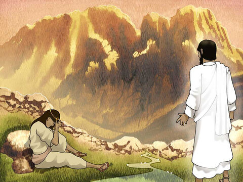 """Now the angel of the Lord found her by a spring of water in the wilderness... He said, 'Hagar, Sarai's maid, where have you come from and where are you going?"""" And she said, """"I am fleeing from the presence of my mistress Sarai.' Genesis 16:7a,8 (NASB) – Slide 3"""