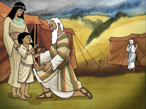 So Hagar bore Abram a son; and Abram called the name of his son, whom Hagar bore, Ishmael. Abram was eighty-six years old when Hagar bore Ishmael to him.' Genesis 16:15-16 (NASB). Ishmael grew up living with his father Abram. – Slide 5