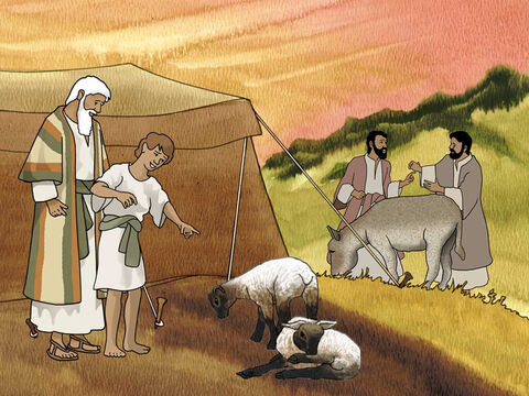 So Abraham rose early in the morning and saddled his donkey, and took two of his young men with him and Isaac his son; and he split wood for the burnt offering, and arose and went to the place of which God had told him. Genesis 22:3 (NASB) – Slide 9