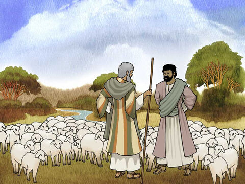 God blessed Abram and his nephew Lot with large flocks and herds. The land could not sustain them close to one another. So Abram said to Lot, 'Please let there be no strife between you and me, nor between my herdsmen and your herdsmen, for we are brothers.' Genesis 13:8 (NASB). – Slide 4