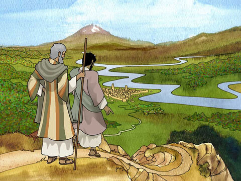 Lot lifted up his eyes and saw all the valley of the Jordan, that it was well watered everywhere... So Lot chose for himself all the valley of the Jordan, and Lot journeyed eastward. Thus they separated from each other. Genesis 13:10a, 11 (NASB). – Slide 6