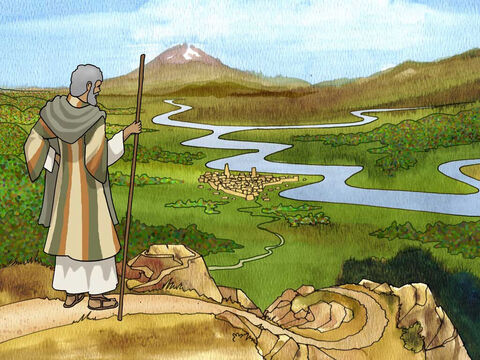 The Lord said to Abram, after Lot had separated from him, 'Now lift up your eyes and look from the place where you are, northward and southward and eastward and westward; for all the land which you see, I will give it to you and to your descendants forever.' Genesis 13:14-15 (NASB). – Slide 7