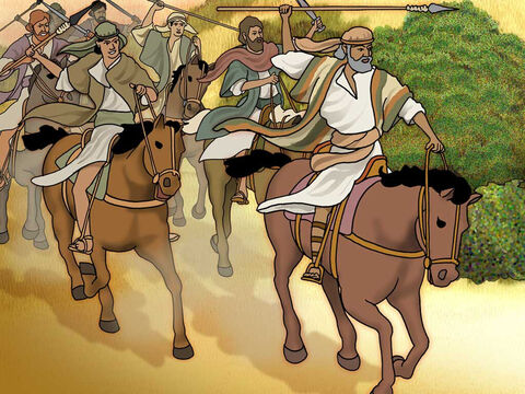The Jordan valley was a wealthy area and it was invaded by fierce warriors. When Abram heard that his relative had been taken captive, he led out his trained men, born in his house, three hundred and eighteen, and went in pursuit as far as Dan. Genesis 14:14 (NASB). – Slide 8