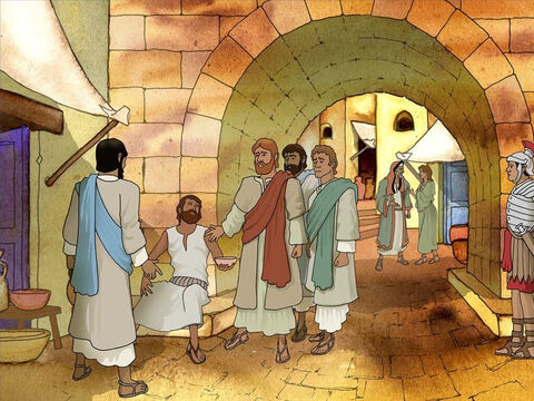 Jesus and some of His disciples approached a man born blind. The disciples asked Jesus if he or his parents' sin caused this problem. It is not uncommon to blame a person's hardship on sin. – Slide 2